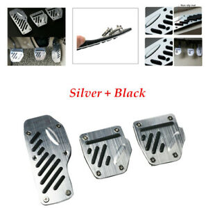 3PCS/Set Car Non-slip Aluminum Accelerator Pedal Foot Pedals For Brake Clutch