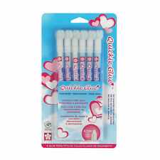 Sakura 58483 Quickie Glue Pen 6 Piece Set Pack Fine Point NEW!