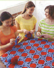 Crochet Pattern: Granny Square Motifs Afghan: The Mod Blanket