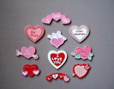 Valentine Pre-Painted Craft Wood 10 Assorted Designs Shapes