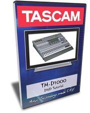 Tascam TM-D1000 Mixer DVD Training Tutorial Manual Help