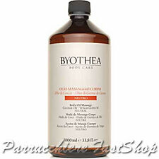 Neutral Body Oil Massage Byothea® 1000ml Oli di Cocco e germe di grano Massaggio