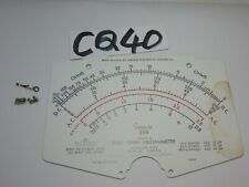 Vintage Simpson 260 Electric Meter Replacement Part Metal Number Plate