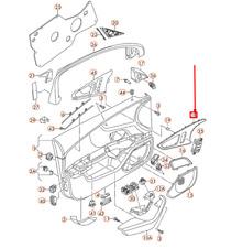 AUDI A6 4G C7 Right Door Panel Trim Insert 4G0867410L1NK RHD  NEW GENUINE