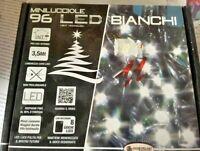 96 LED Blanches Lumières de Noel Arbre Noël Jeux Lumière Décorations 3,5 MT