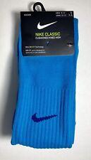 1 pair Nike Classic Cushioned Knee High Soccer Socks Blue Dri-Fit Size L
