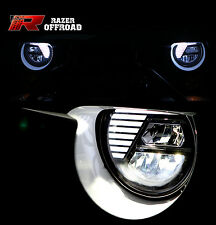 07-16 Jeep JK Wrangler Rock Crawler Black LED Headlight DRL+High+Low Beam+Cree