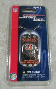 Vintage NFL Football Sport Tagz Dog Tag Necklace NOS New Cincinnati Bengals