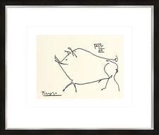 artissimo Kunstdruck mit Rahmen 63x53cm Picasso: Schwein Bild Poster gerahmt