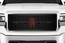 Custom Steel MOLON LABE w/Red Acrylic Grille for 14-15 GMC Sierra & Denali Grill