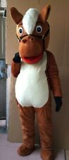 Brown Horse Mascot Costume Suit Cosplay Party Game Dress Outfit Halloween Adults
