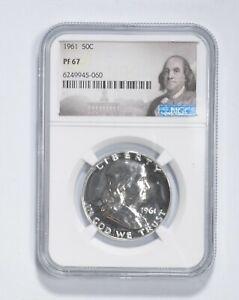 PF67 - 1961 Franklin 90% Silver Half Dollar - NGC *035