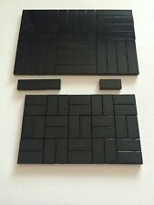 Lego 50 New Tiles Black Smooth Finishing Flat Tile 25 1x4 25 1x2 Bricks