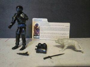 RARE Vintage 1983 G.I Joe COMMANDO SNAKE EYES ARAH 100% Complete W/File Card OG