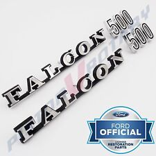 FALCON 500 Rear Quarter or Boot Badge SETS x2 , NEW for Ford XW Tailgate Badges