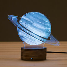 3D Optical Illusion Planet Jupiter Bulbing Lamp Remote Control LED Night Light