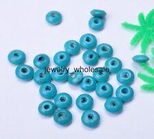 100pcs 3x8mm Charm Wood Abacus Spacer Beads DIY Bracelet Necklace Multiple Color