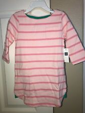 NWT Baby Gap Girls Pink Striped  Dress  Sz. 5T