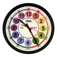 Relda Clear To Read Time Teacher Children's Bedroom/ Classroom Wall Clock, Rainb