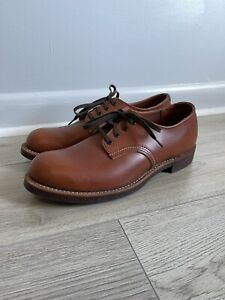 RED WING 8052 HERITAGE WORK OXFORD DERBY LEATHER BRICK SETTER  FIRST QUALITY