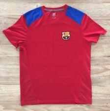FCB Barcelona Men's Large T-Shirt Soccer Futbol Red Mesh Back