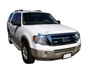AVS for 07-17 Ford Expedition Aeroskin Low Profile Hood Shield - Chrome - avs622