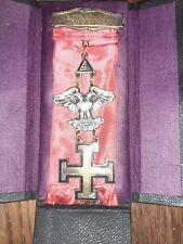 Antique masonic sterling silver masonic 32nd degree jewel