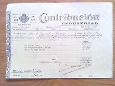 DOCUMENTO CONTRIBUCION MUNICIPAL MURCIA.CIEZA,1932 AMARILLO