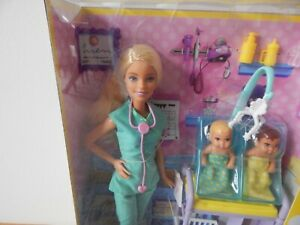 NEW 2018 Mattel Barbie Doll Doctor With Twin Babies