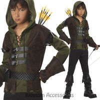 CK117 Robin Hood Child Boys Medieval Book Week Halloween Fancy Dress Costume