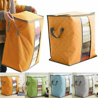 Foldable Clothes Blanket Quilt Closet Sweater Storage Organizer Bag Box Pouches