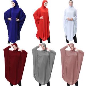 Ramadan Women Long Prayer Khimar Dress Hijab Muslim Abaya Kaftan Jilbab Islamic