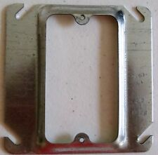 """RACO- Hubbell #8771X Mud-ring square box cover, 4"""" Raised ¼"""" gray, steel"""