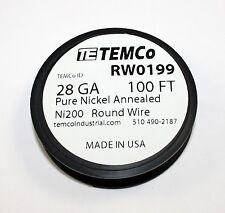 Pure Nickel Wire, 100 FT spool -  28 Gauge ( RW0199 )