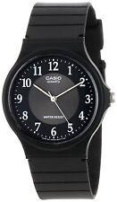 Casio MQ24-1B3, Classic Analog Watch, Black Resin, Black Dial, Water Resistant