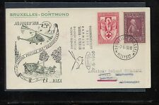Belgium   nice helicopter flight cover  1956         MS0811