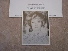 Elaine Paige Autograph Photo