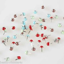 90pcs Multicolor 10mm Pearl brads Scrapbooking Card Making wedding Craft