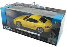 Welly Porsche Cayman S 1:18 Diecast Yellow 18008W