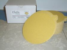 "6"" PSA Tab Discs Sticky Sand Paper Discs 400 Grit 100 Pack Premium Gold"