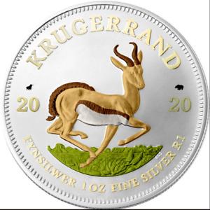 1 Rand Südafrika 2020 - 1 OZ Springbok Bull&Bear Blueline 2020