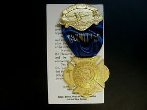 Hudson Valley Schenectady 1937 Committee Annual Convention Medal with Tag