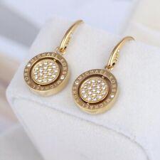 Michael Kors Gold Tone Two Side Crystal Earrings