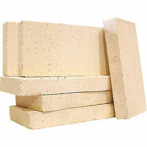 "Vermiculite Villager Stove Fire Bricks 4.5"" x 9"" Multi Fuel Woodburner 10 Bricks"