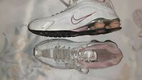 Nike Shox White/Pink Trainers. Size UK 6. European Size 39.