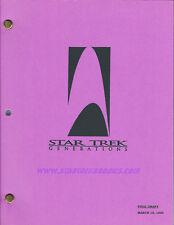 SCRIPT Star Trek: Original Series / Next Generation MOVIE: GENERATIONS 3/16/94!