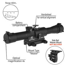 POSP 4x24 W. Sniper Rifle Scope. BelOmo.Weaver. Combloc. 400m