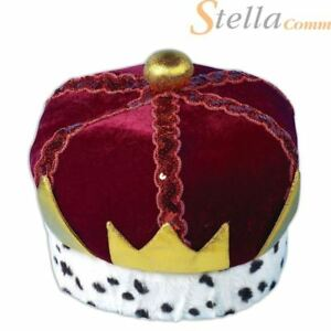 Adults Crown Hat King Wise Man Nativity Christmas Fancy Dress Costume
