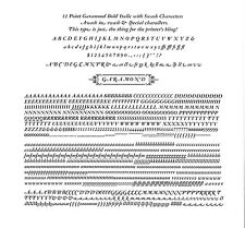 New Letterpress Type - 12 point Garamond Bold Italic with swash characters