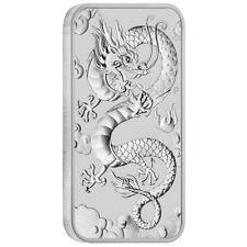 Australien - 1 Dollar 2019 - Drache - Rechteck-Anlagemünze - 1 Oz Silber ST